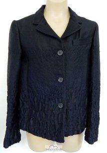 Prada Italy Rt Silk Wool Blend Black Jacket