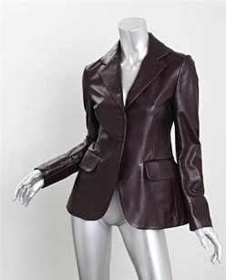 Prada Womens Leather Brown Jacket