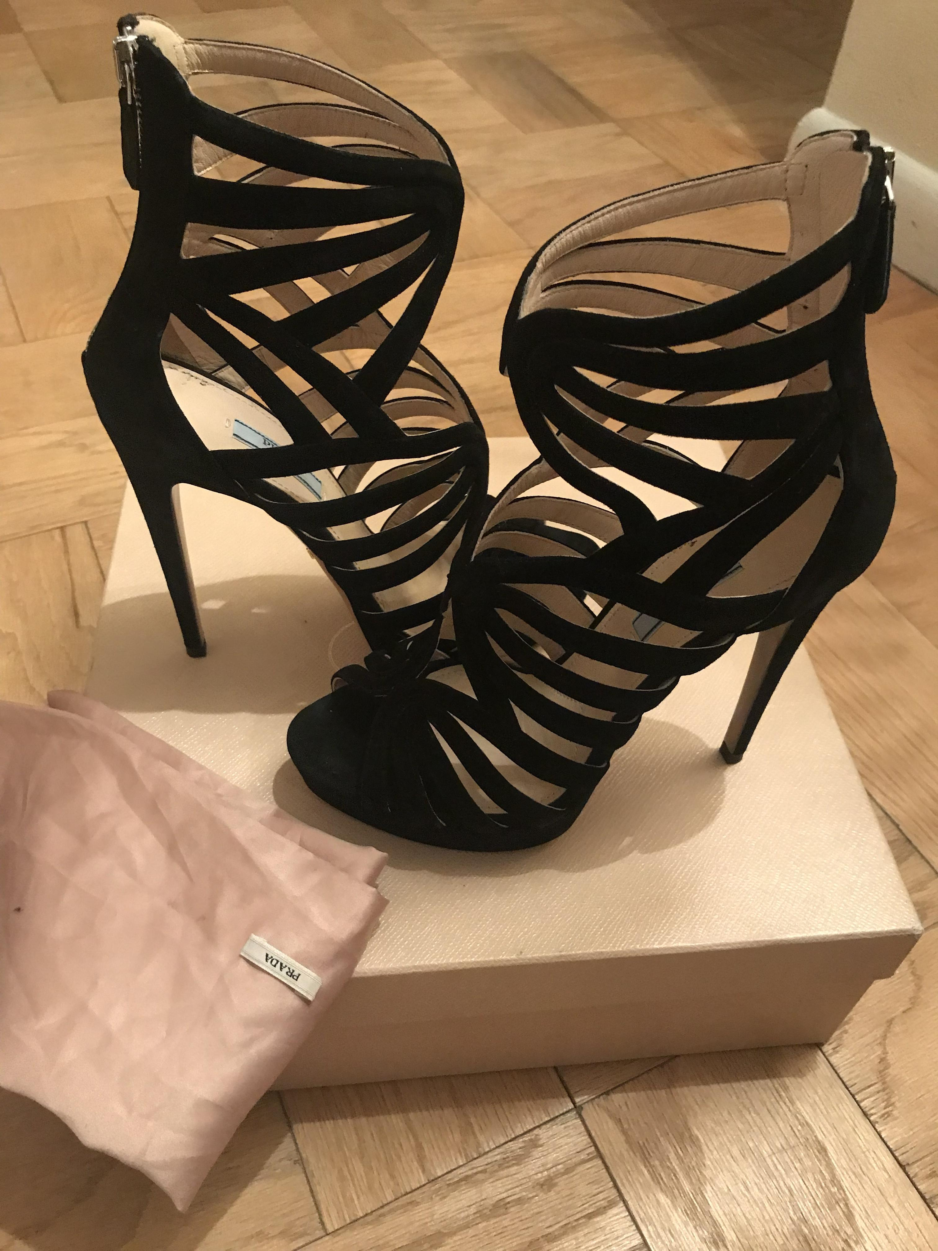 cc074338e8d US 9) Regular Prada Black Cage Sandals Size Size Size EU 39 (Approx. US 9)  Regular