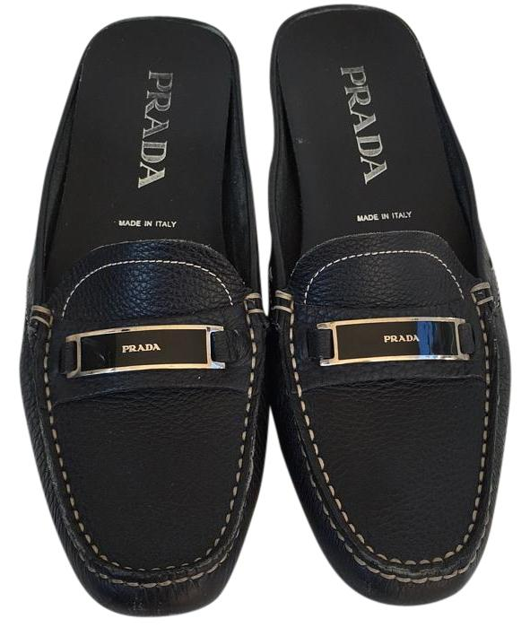 Prada Black 7.5 Mules/Slides Size US 7.5 Black Regular (M, B) 686b4e