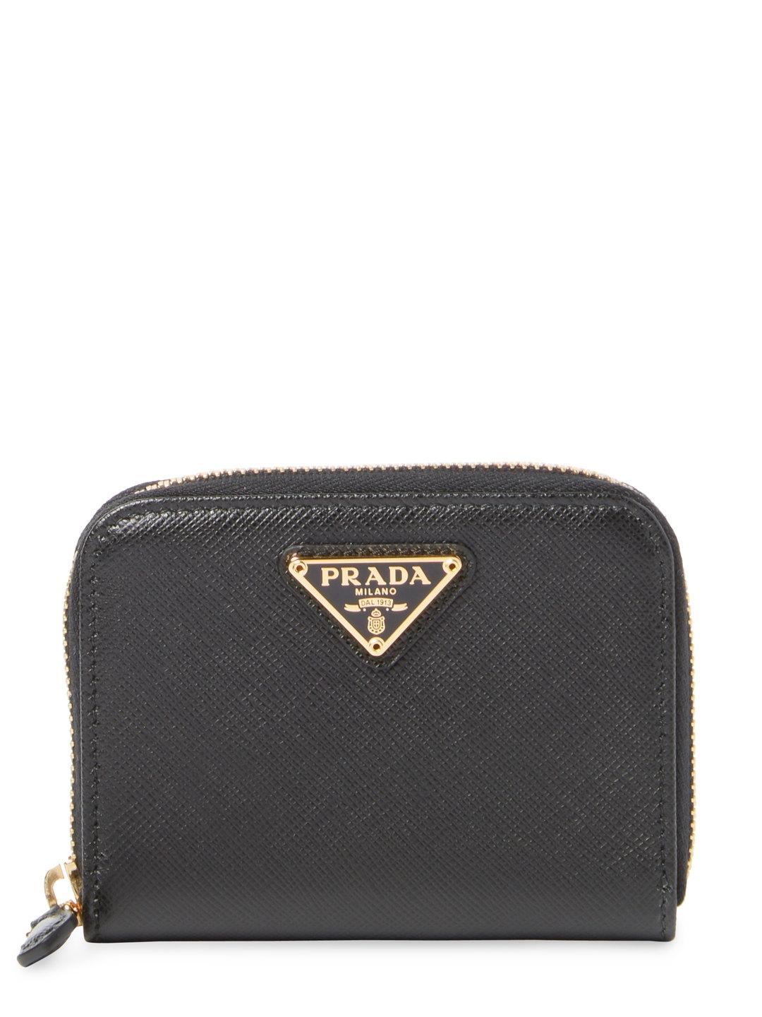 Cheapest Discount Visit Wallets - Small Wallet Saffiano Leather Black - black - Wallets for ladies Prada EyCh0fr