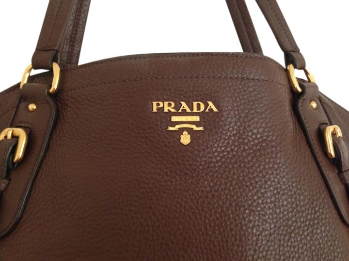 e8aa2d1608 ... amazon prada pebbled leather gold hardware calf leather tote in brown  4ea0d dcbce