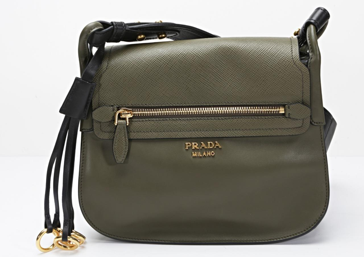 c5a7f9c7a0c3 ... usa prada crossbody bags the realreal prada military army green  messenger bag. 1234567891011 f9990 8bba6