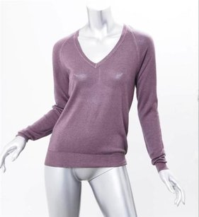 Prada Womens Light Knit Wooksilk Blouse Sweater