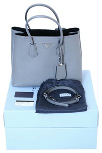 Prada Double Cuir Satchel in Gray