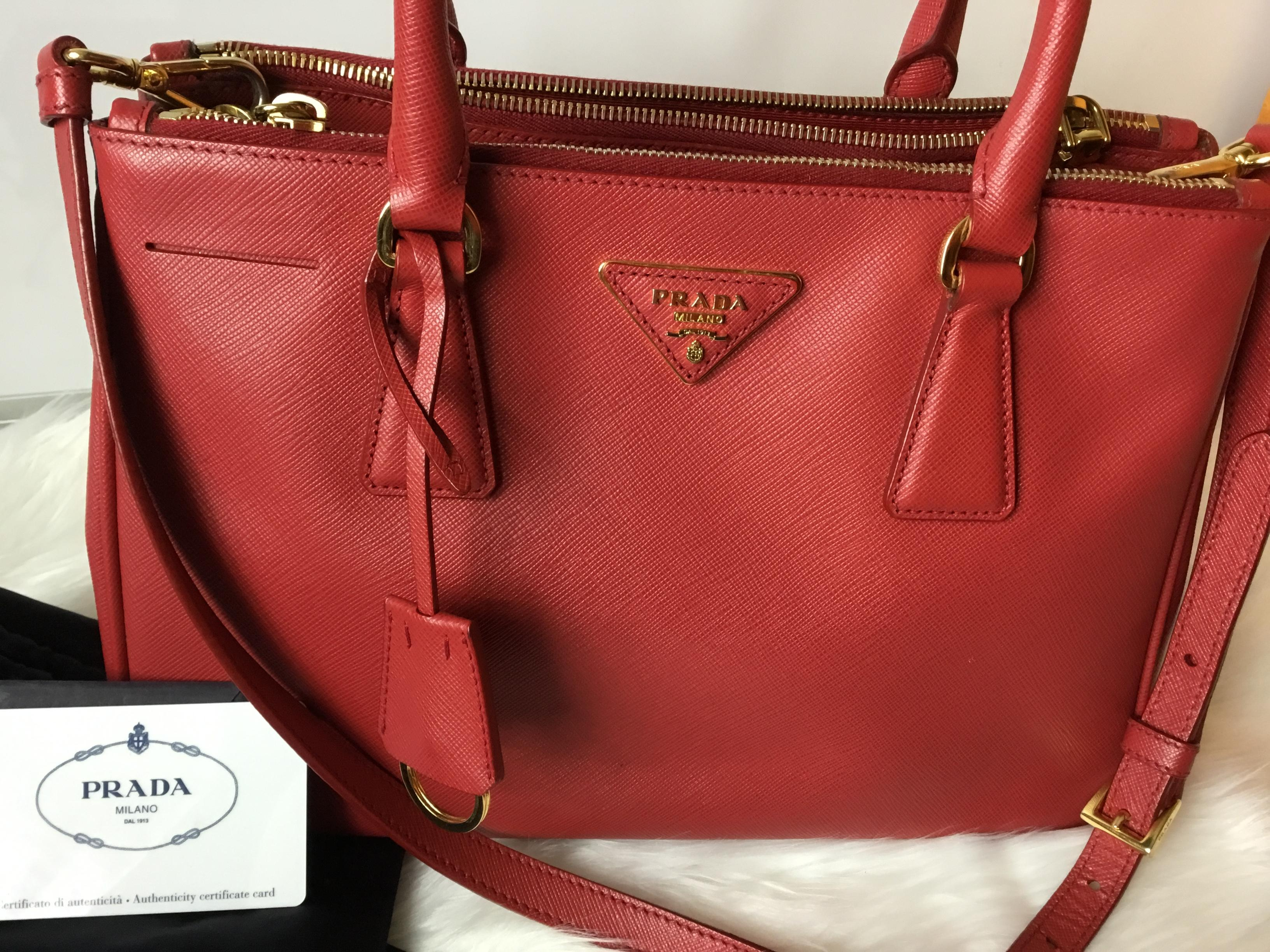 194572818d4c 123456789101112 923f2 a4673; purchase prada double galleria lux saffiano  zip fuoco leather tote tradesy 71f07 253f7