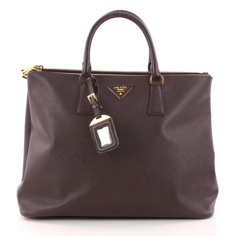1fcf3d0edab58b order authentic prada saffiano cuir double bag large 6938f abf1e; discount  code for prada tote in burgundy 1da20 7d05b