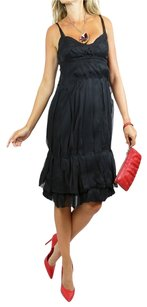 Prada short dress Black Chiffon Silk Spaghetti Straps Designer Designer on Tradesy
