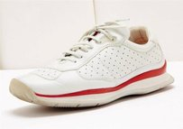 Prada White Red Leather Athletic
