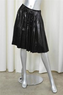 Prada Pleated Satiny Skirt Black