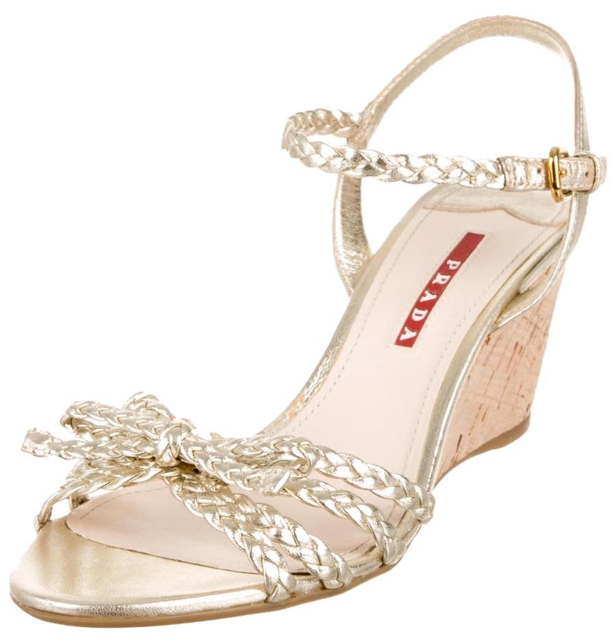 classic sale online sale latest collections Prada Sport Braided Bow Wedges sale pay with visa 7WglYz7I