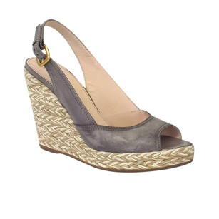 Prada Gray Wedges