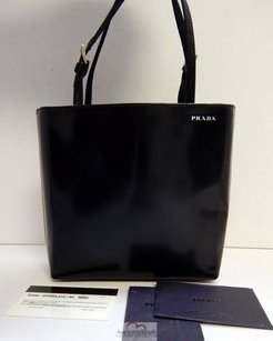 Prada Leather Evening Black Clutch