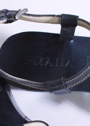 Prada Leather BLACK Platforms