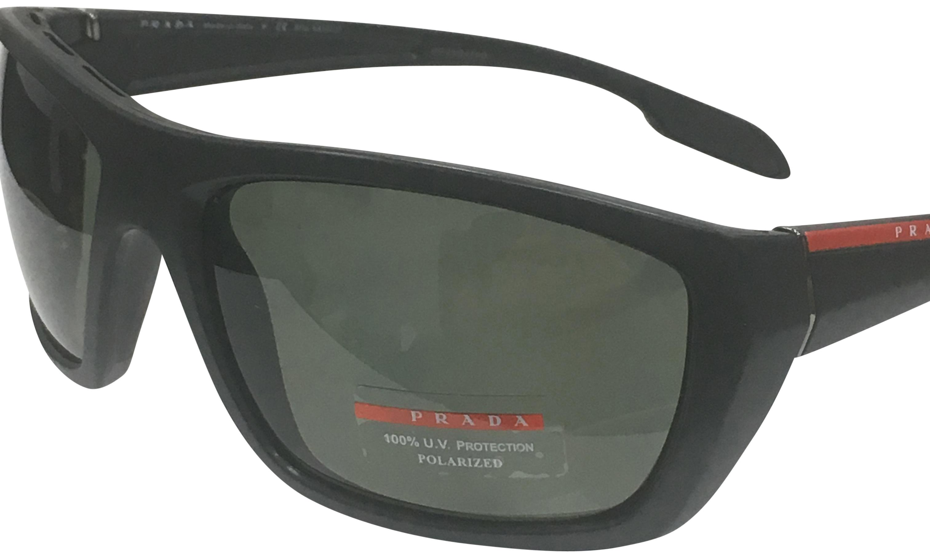 076b8f1ab5f15 ... new zealand prada prada linea rossa mens sps 06s fashion rectangle  polarized sunglasses 19285 bc9e7