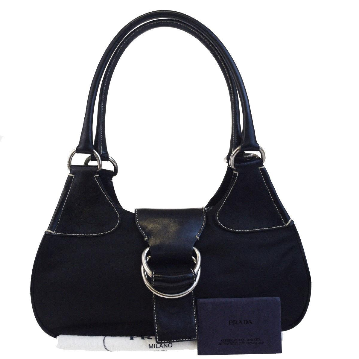 c7eb23b9422a1a ireland prada made in italy tote in black 3bddf d22a4