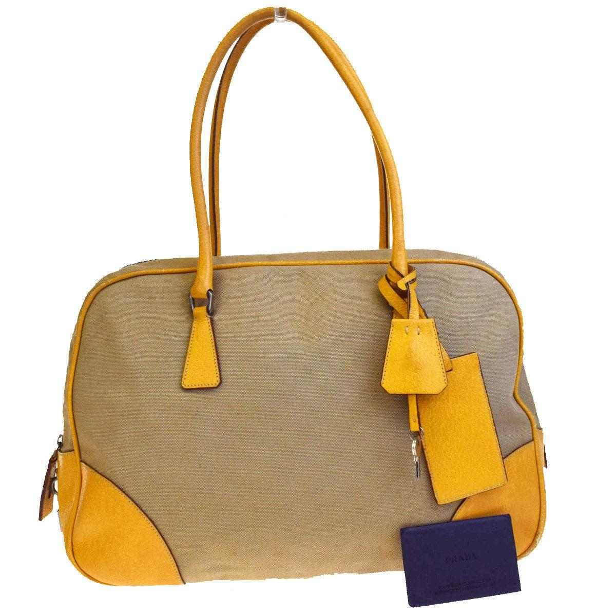 9b791b435a14 ... top quality prada made in italy tote in beige.yellow 0c5ca 91b18