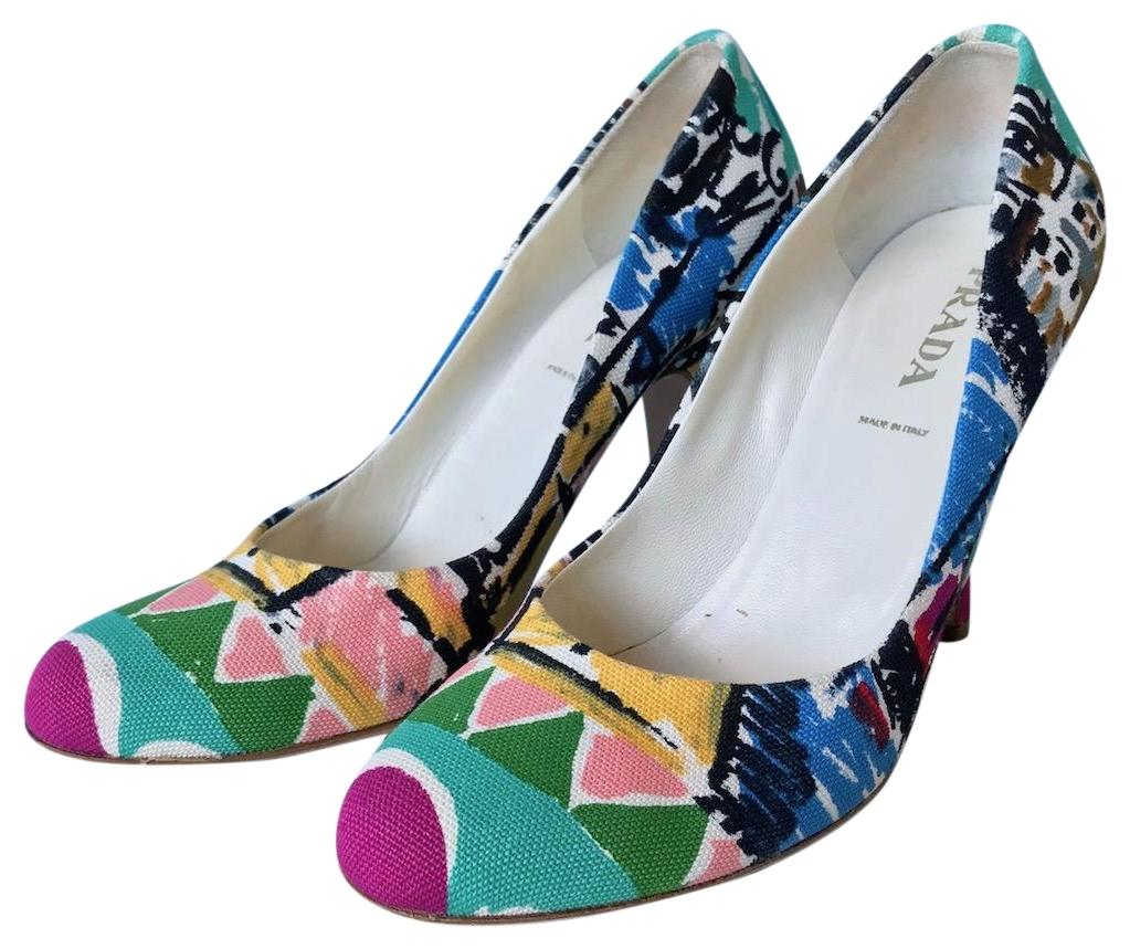 visit Prada Printed Canvas Pumps sale with paypal clearance factory outlet sneakernews online VsbT9