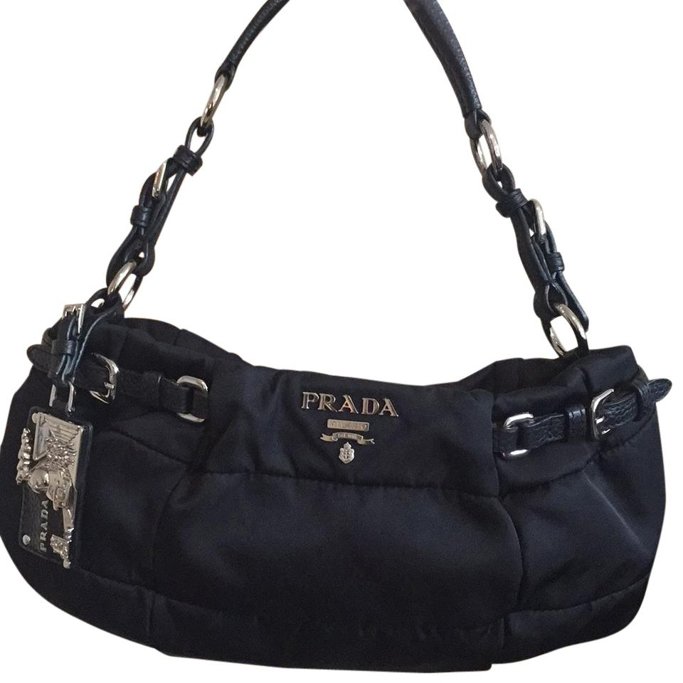 Prada nylon and leather bag