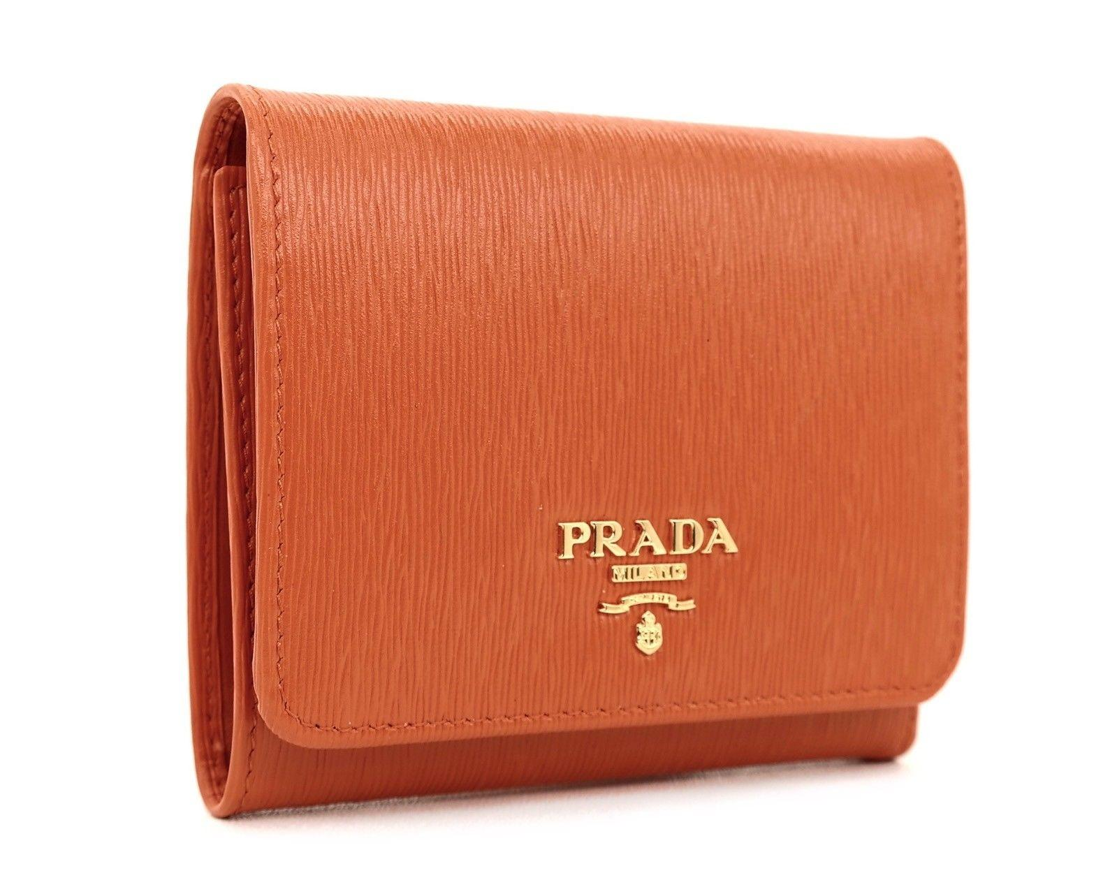 c3ba634938d0 ... sweden prada orange pattina portafoglio trifold wallet tradesy 102fb  afd63