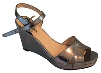 Prada Pewter Wedges