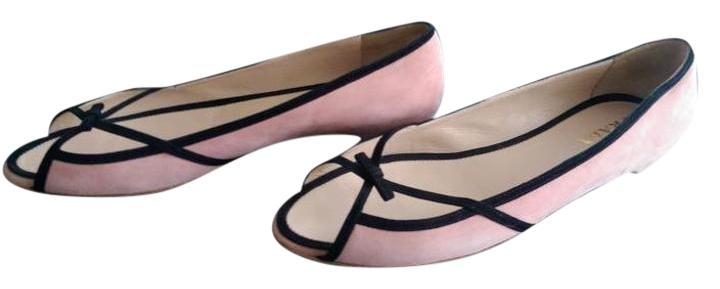 Prada Suede Peep-Toe Flats clearance best clearance Inexpensive buy cheap comfortable IVwy33