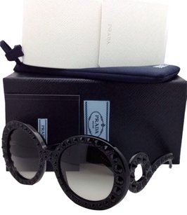Prada RADA Sunglasses Black Frame with Gray Fade & Crystals