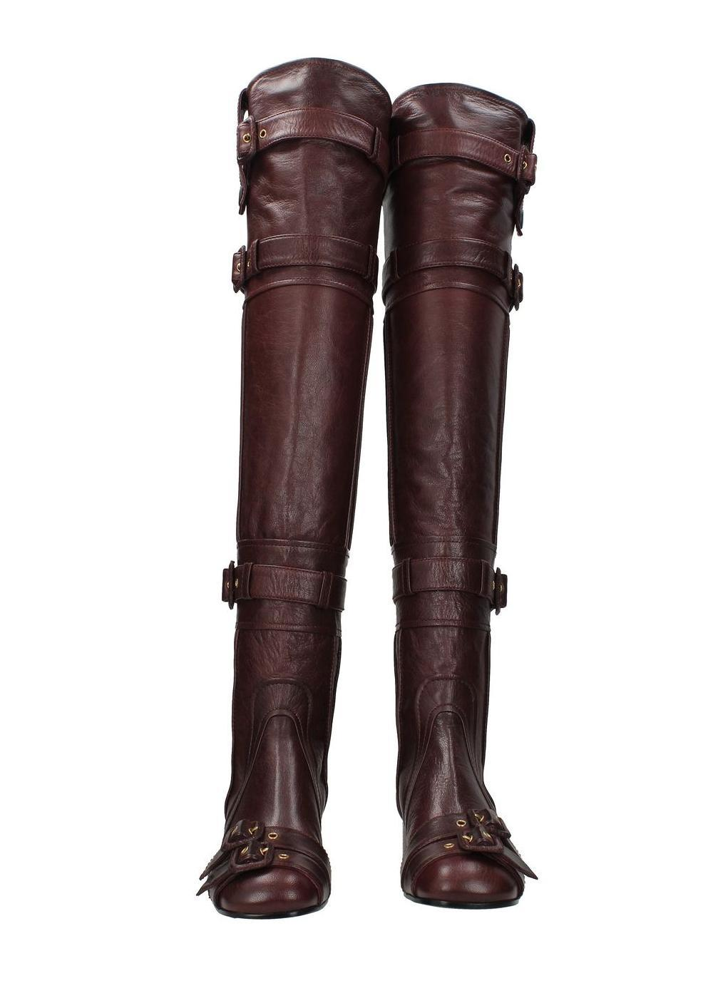 1ec535193fce US 6 Prada Red Leather Boots Booties Size EU 36 36 36 (Approx. US 6 ...