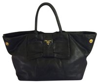 Prada Ribbon Satchel in Black