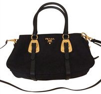 Prada Satchel in black gold