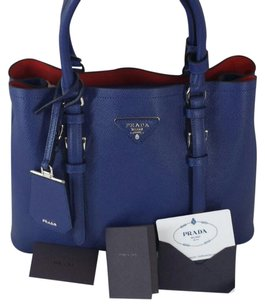 Prada Satchel in Blue & Red