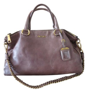 Prada Satchel in Gray - Brown