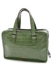 Prada Leather Cocco Satchel in Green