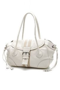 Prada Ivory Vitello Daino Leather Flap Shoulder Bag
