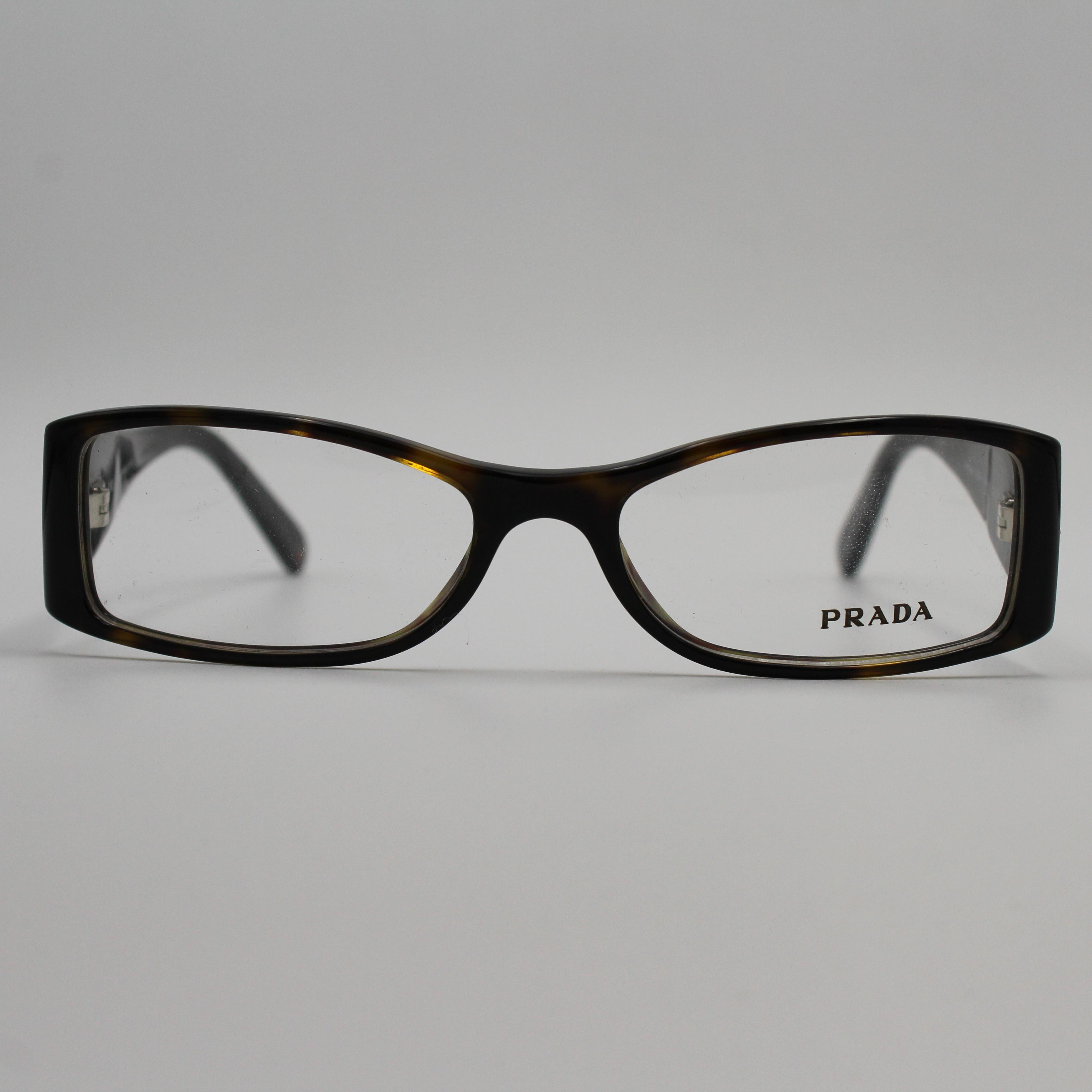 935550b064 ... new zealand prada rectangle tortoise eyeglasses with orange crystals  vpr08h 2au 1o1 cf44f f37e9