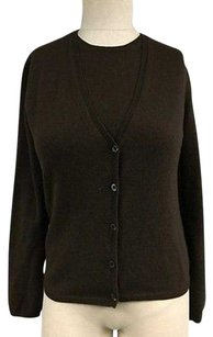 Prada Cashmere Button Cardigan And Sleeveless Twinset Sma10565 Sweater