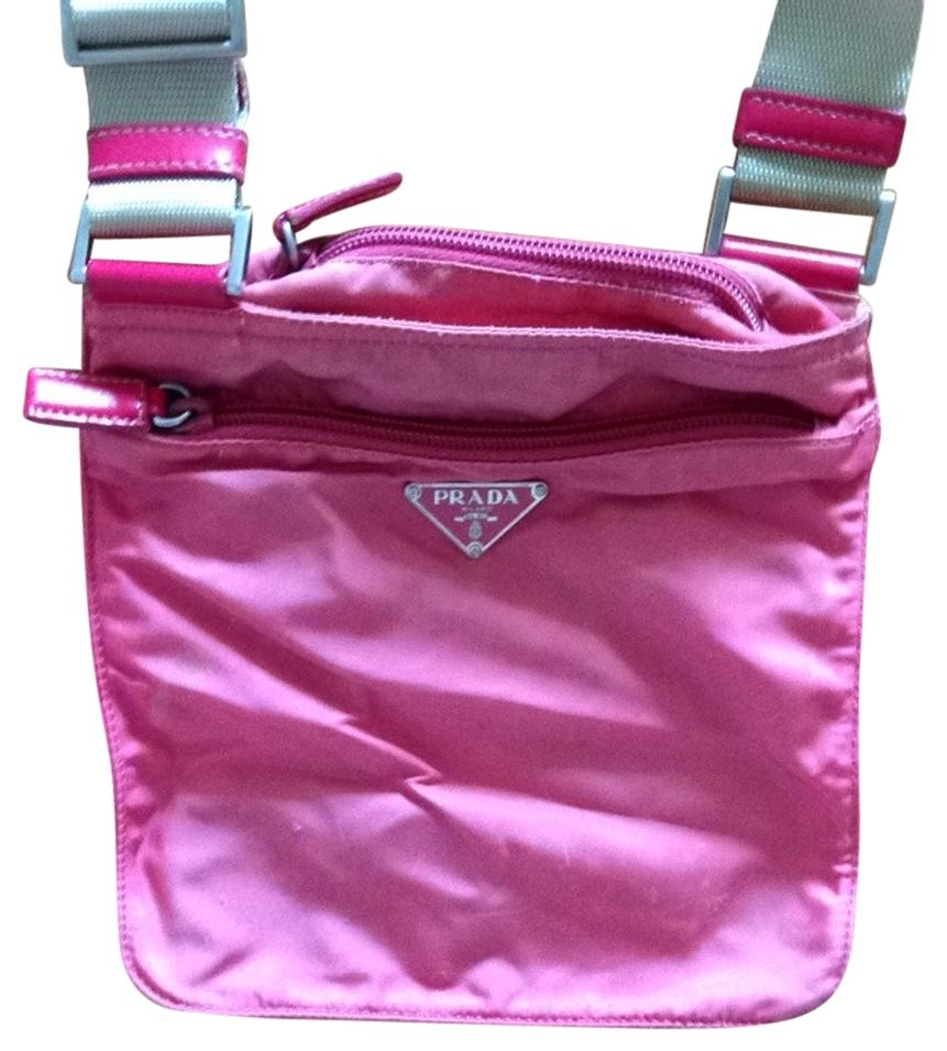 Bright pink Vela pouch with pocket Prada 7fQhue