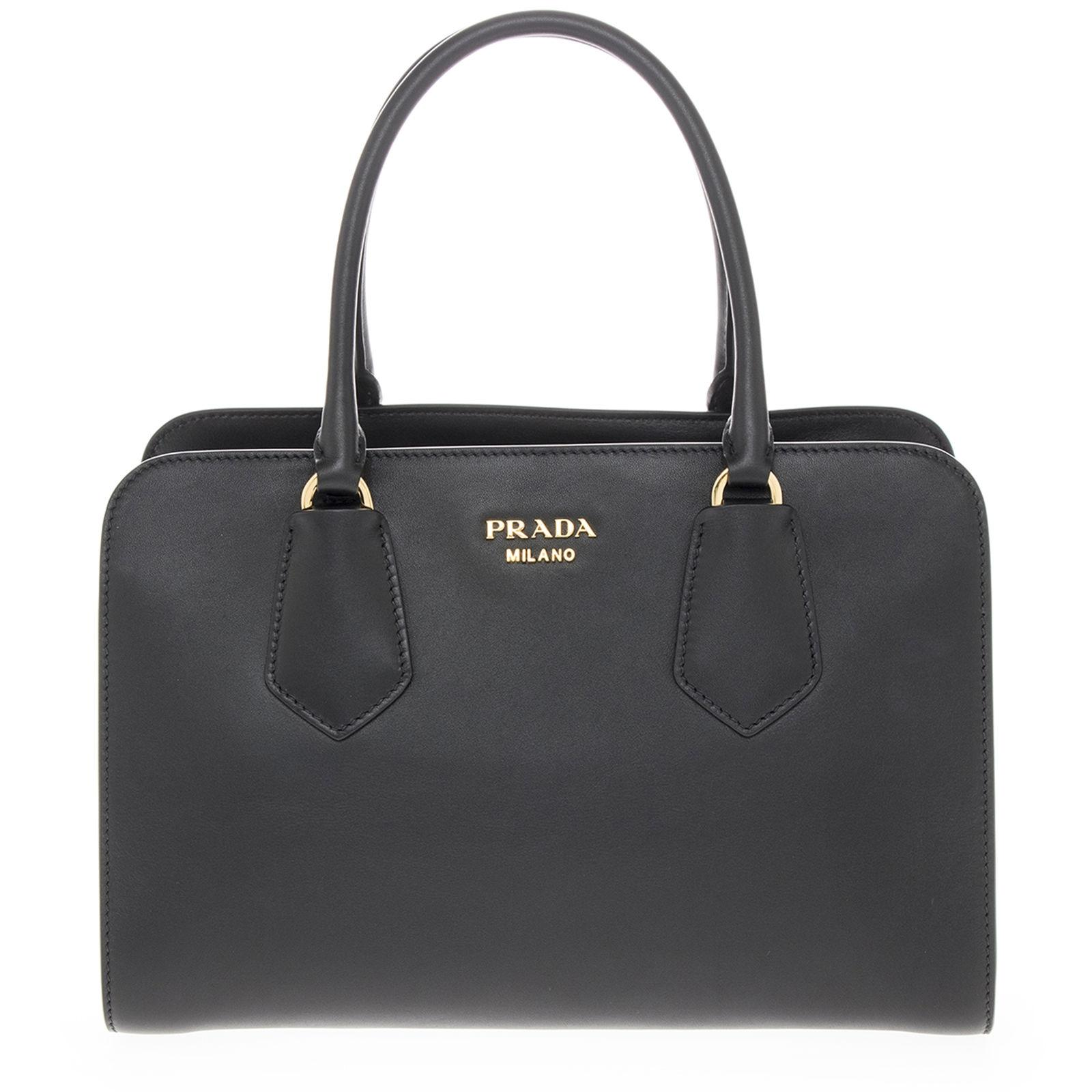 1072974a15 ... netherlands prada tote. prada womans smooth leather top handle black  tote ed948 eeb55