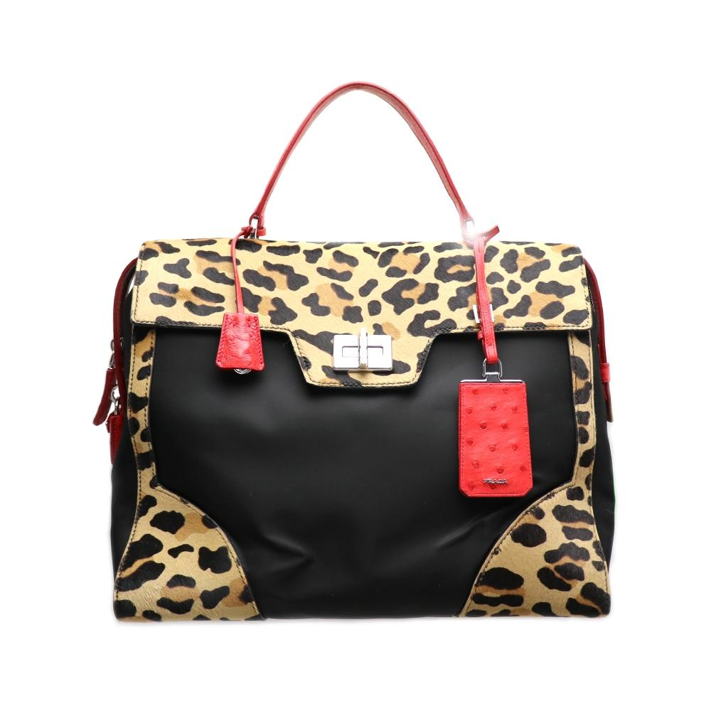 60b3da44747d ... discount code for prada handbag print shopping tote in leopard ec312  91b50