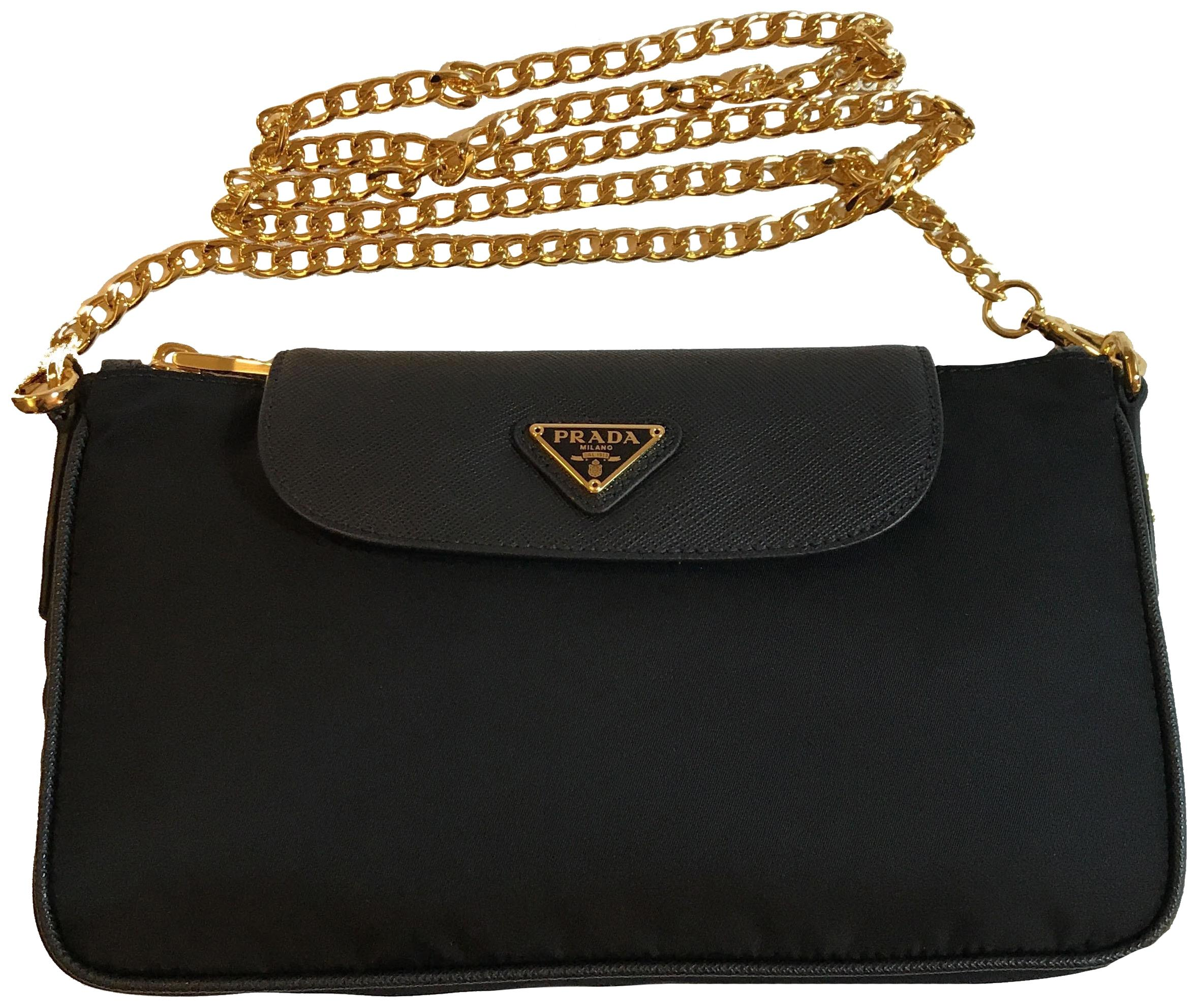 068d96a0134e ... official prada womens chain cross body bag 7285a 94a97