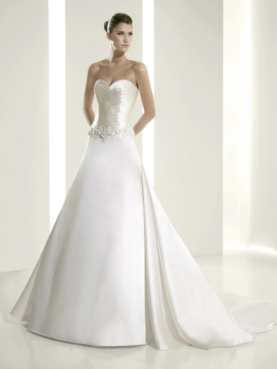 white dresses for wedding pronovias light ivory white satin 6222 destination 1322