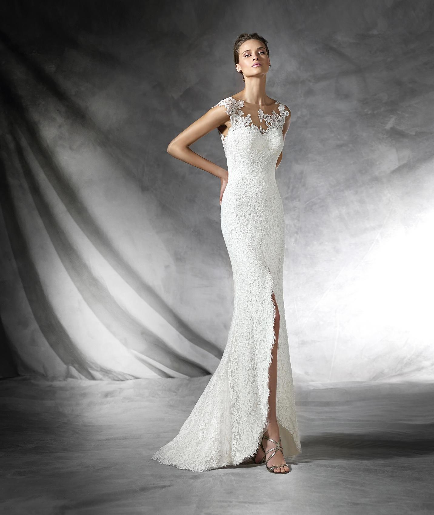 Pronovias Off White Lace Preta Destination Wedding Dress Size 10 (M) ...