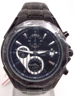 Pulsar Pulsar By Seiko Chrono Alarm Black Dial Wr 50m Mens Sport Watch Pf3961 Sd
