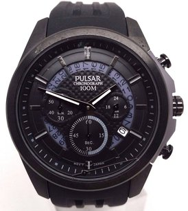 Pulsar Pulsar On The Go Collection Chronograph Pt3527 - Quartz Pulsar Watch Mens