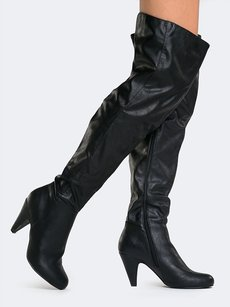 Qupid 35booties& 35bootzzz Changeto35 Black Boots