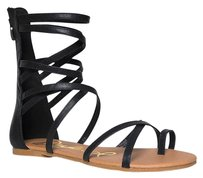 Qupid Gladiator Instock Black Sandals