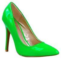Qupid Green Pumps