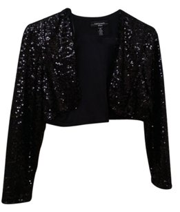 R & M Richards Top black Sequins