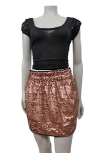 Rachel Roy By Bronze Mini Skirt Bronze,metallic