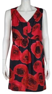 Rachel Roy Rachel Womens Floral Wtw Sleeveless Sheath Above Knee Dress
